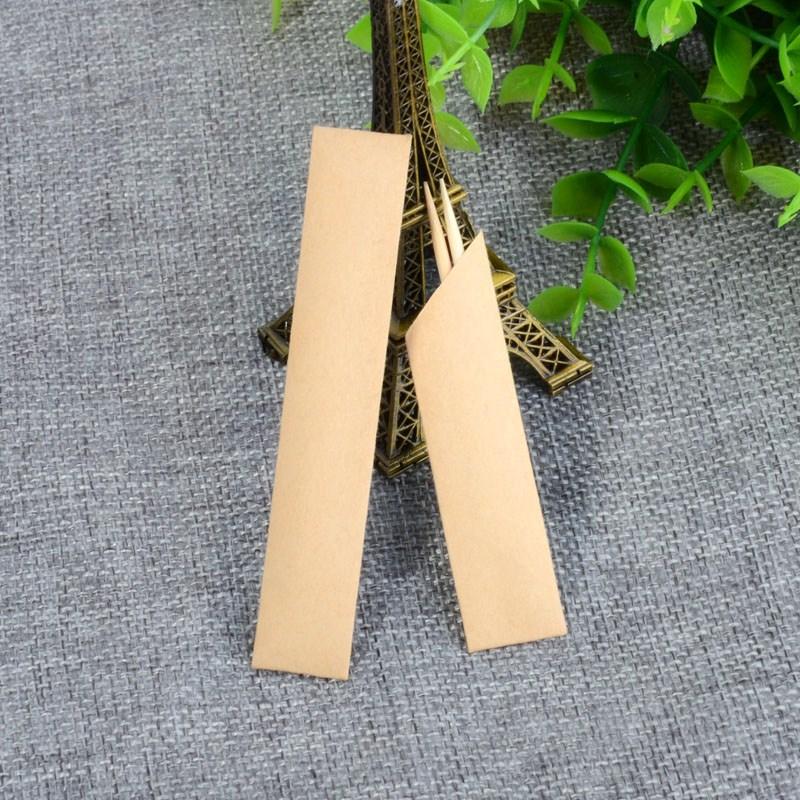 牛皮纸牙签一次性独立包装单头竹订制可订制定做logo餐厅饭店包邮