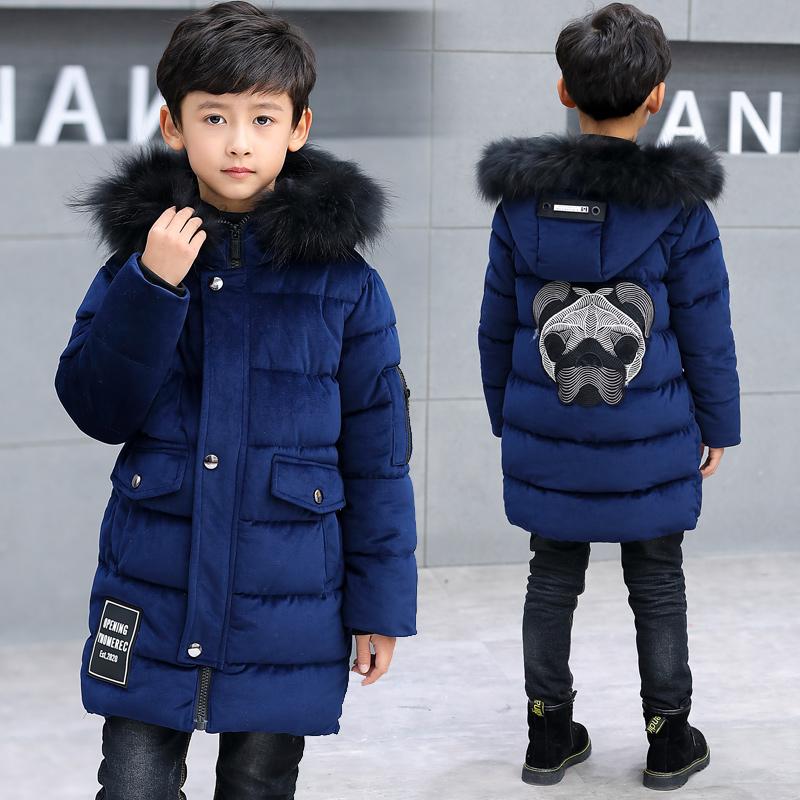 男童棉衣外套2019新款冬装金丝绒棉袄加绒加厚新款中大童儿童棉服