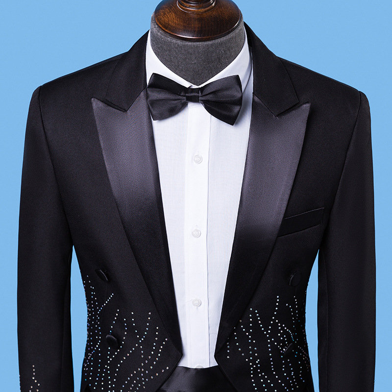 New tuxedo adult mens slim double breasted dress mens LAPEL SUIT white mens new performance