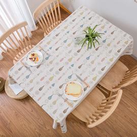 桌布防滑防水防油免洗加厚北欧PVC进口防烫茶几餐桌布布艺餐桌垫
