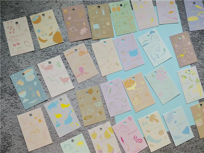 花店礼物烘焙甜品30个浪漫文艺清新小卡片留言卡许愿卡吊卡吊牌