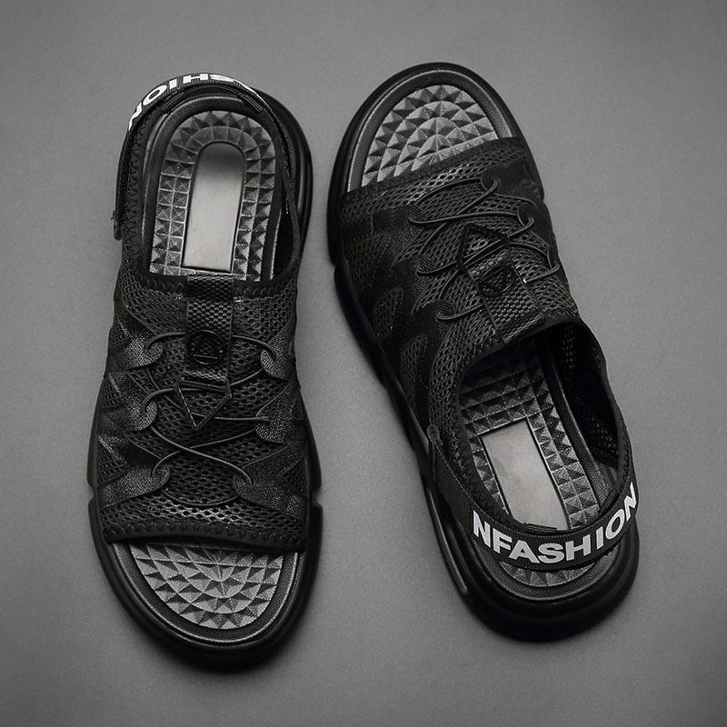 男士凉鞋2019新款夏男式款个性时尚夏季潮真皮罗马软底沙滩休闲鞋