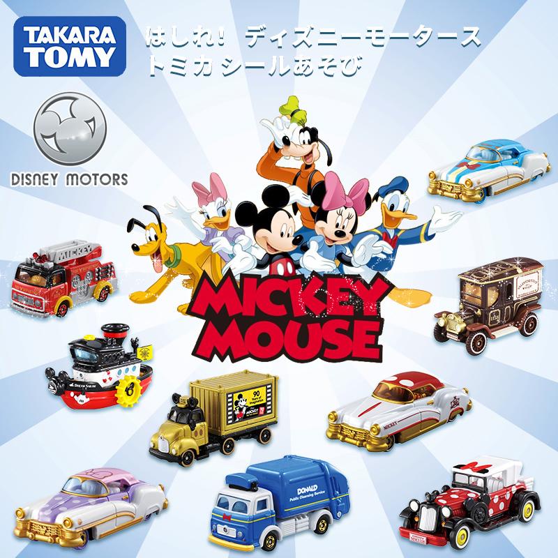 TOMY/多美卡迪士尼合金小汽车模型女孩玩具米奇米妮唐老鸭老爷车