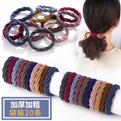 高弹力耐用女扎头无接缝加粗发绳