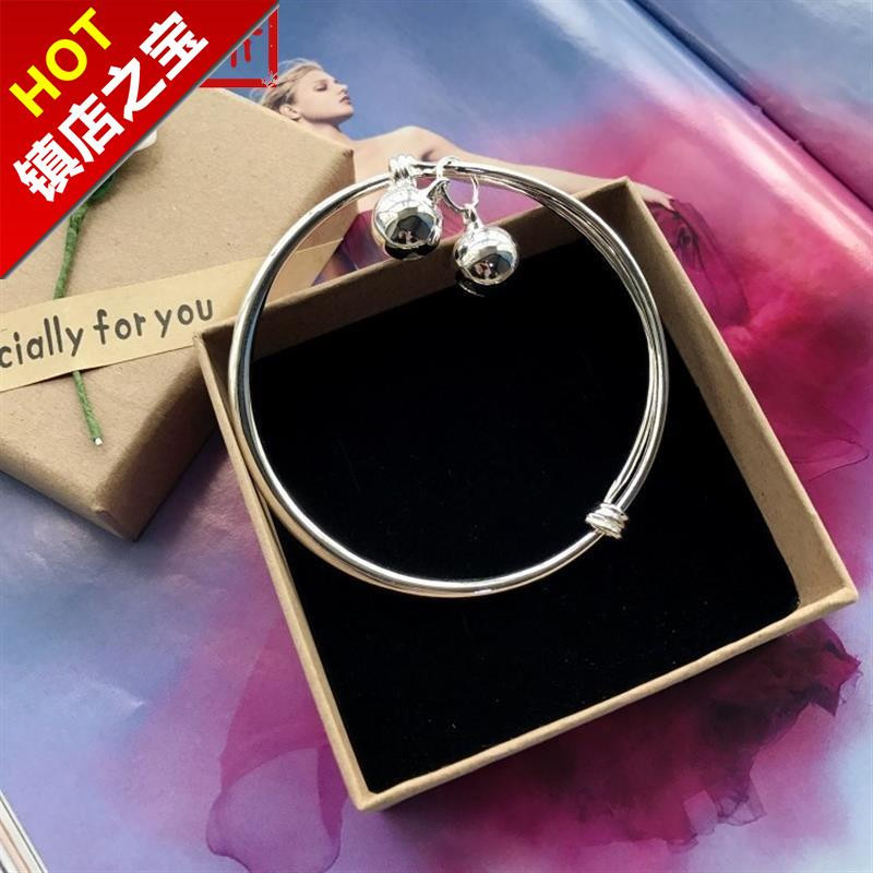 New small 22 bell Bracelet Silver fashion foot a chain girls smooth face simple versatile temperament foot ring