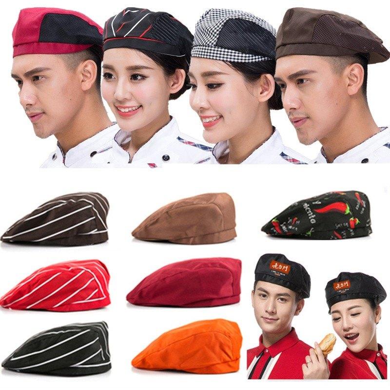 家用红色专用天贝雷帽透气薄款服务员网纱加气站黄色休闲厨房