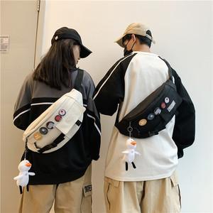 潮牌男士休闲日系新款小背包斜挎包