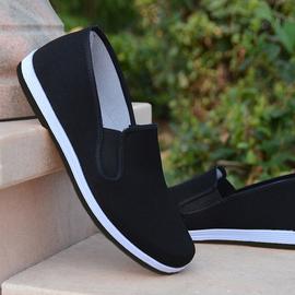 夏季老北京布鞋男中老年爸爸一脚蹬休闲帆布防滑工作布鞋男司机鞋图片