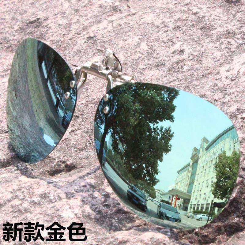 Clip type male large frame anti dazzle myopia glasses with sun lens round ultra light retro sunshade female