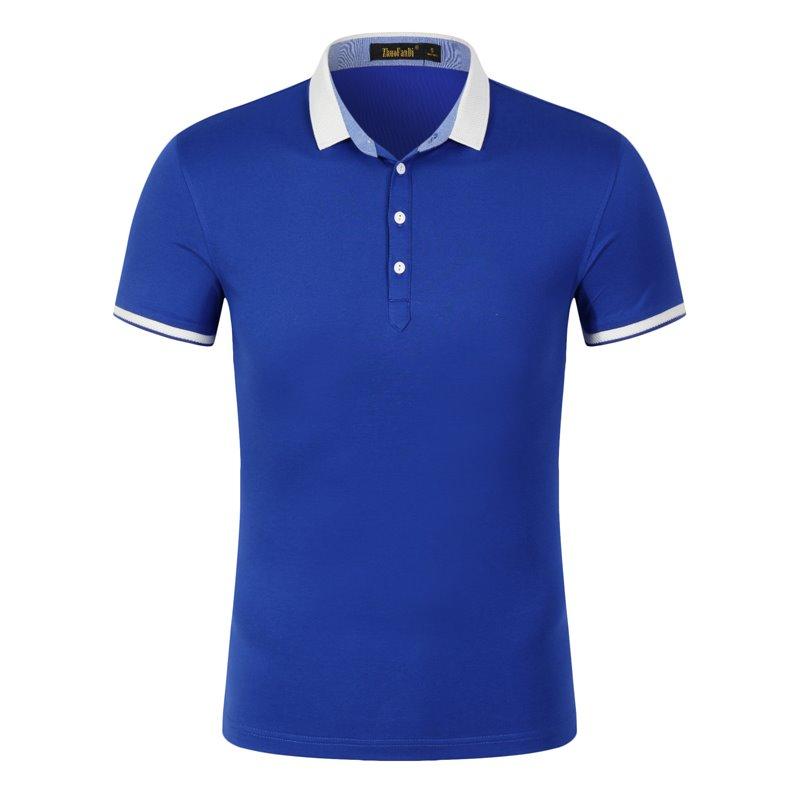 新马球衫定制餐厅服务员工作服t恤短袖polo衫订做工衣印字刺绣lo1