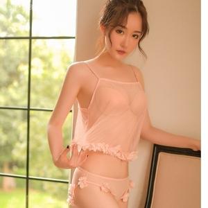 可爱网纱吊带睡衣性感透明情趣内衣激情用品分体套装女成人用品