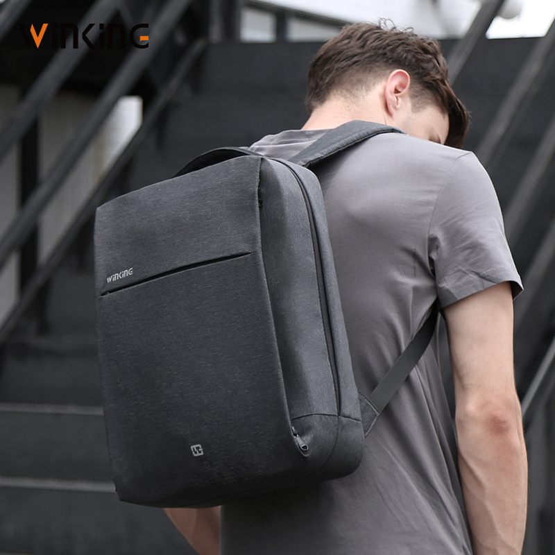 Business backpack mens simple leisure multifunctional backpack 15.6 inch notebook computer bag fashion trend schoolbag