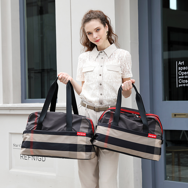 Travel bag women's short distance bag Korean version large capacity travel bag 2020 new online Red Travel fitness handbag