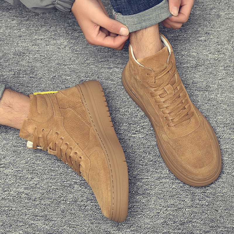 Mens shoes 2020 new spring high top casual shoes mens fashion shoes British style Korean style all over Martin boots mens board shoes