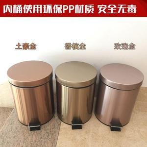 垃圾桶不锈钢翻转盖304不锈钢垃圾桶加厚家用酒店客房垃圾桶厨房