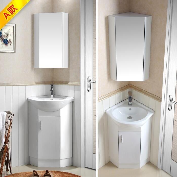 小户型浴室柜组合转角间墙角洗面盆洗手盆1卫浴柜洗漱台镜柜卫生1057.00元包邮