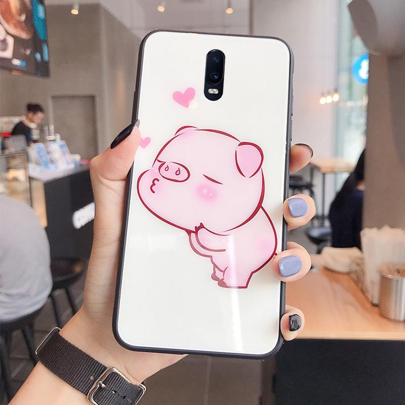 可爱卡通oppoA9手机壳少女A7玻璃镜面保护套A7X个性创意A5/A3/A1网