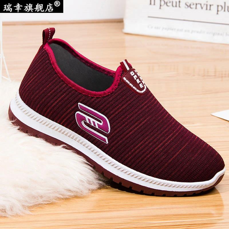 老北京布鞋女鞋春春软底防滑网红休闲一脚蹬中老年妈妈鞋老人健步