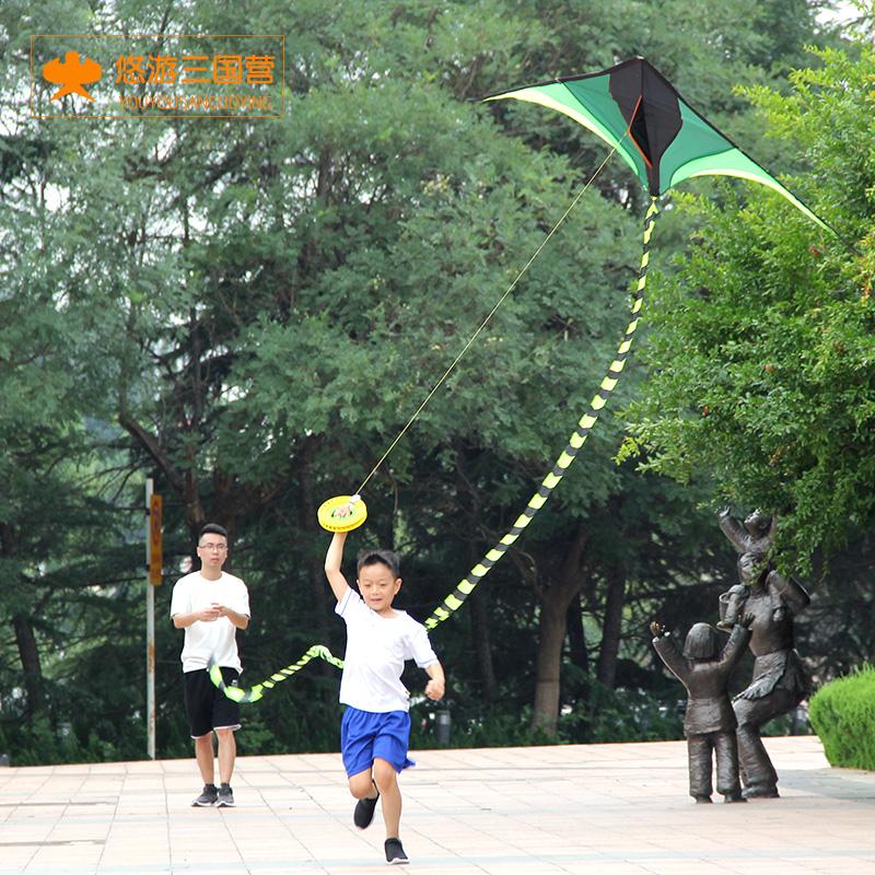 儿童风筝大型风筝儿童户外草原伞布特色三角成人微风易飞新款线轮