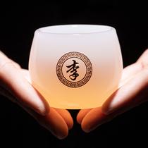 私人定制姓氏茶杯个人专用刻字琉璃主人杯茶具功夫订制单杯盏杯子