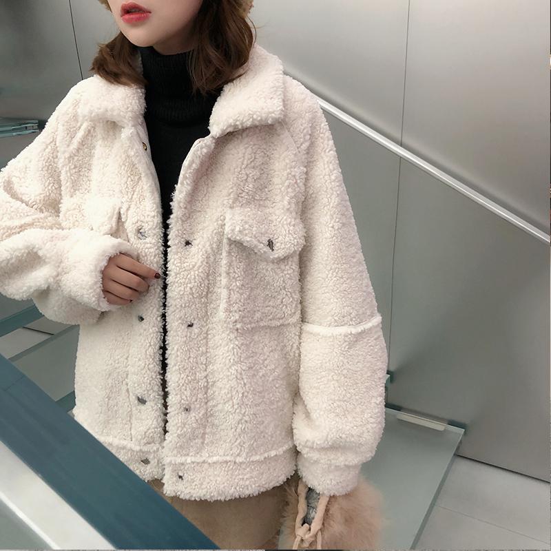 Lamb fur coat female 2021 new winter Korean version slim short fur one-piece jacket fleece small man
