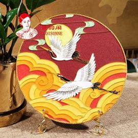 《比翼》景泰蓝画掐丝珐琅画diy材料包金丝沙画中国传统文化 非遗