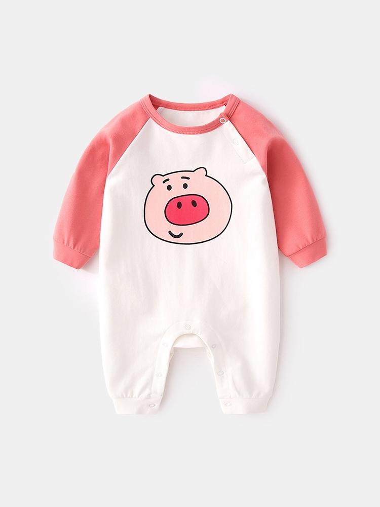 三个月宝宝衣服女纯棉新生儿春装爬爬服初生婴儿连体衣男春秋哈衣,可领取5元天猫优惠券