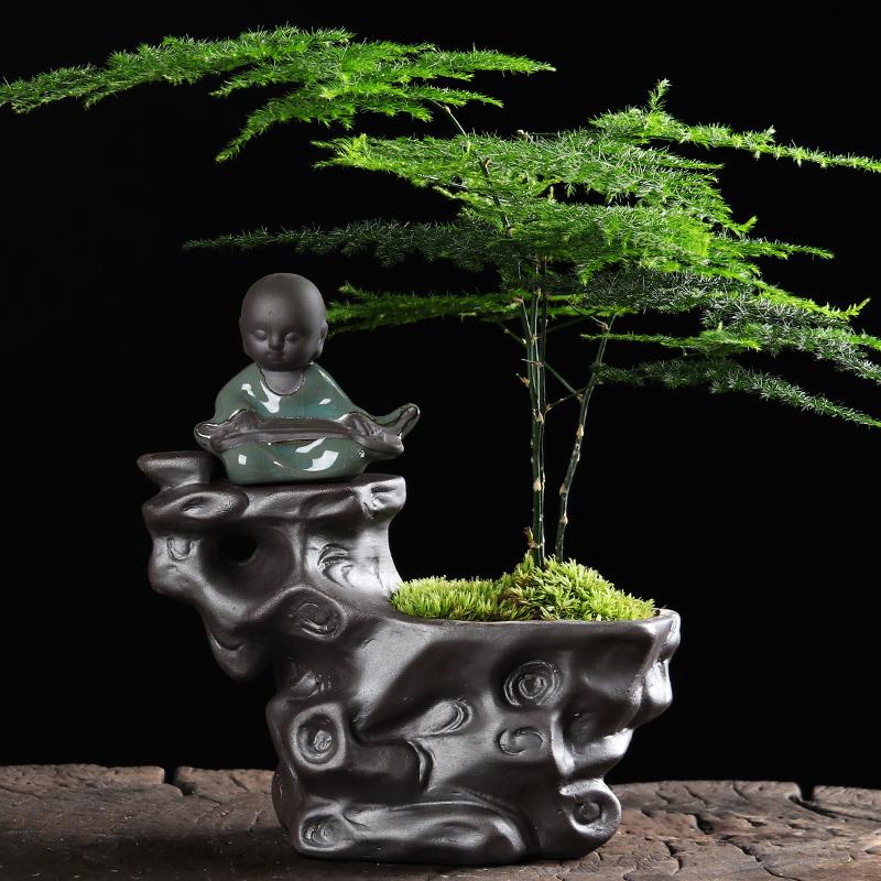 热销1703件正品保证多肉创意个性陶瓷紫砂透气古典花盆