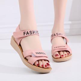 夏季12少女孩平底舒适时尚凉鞋11初中学生15岁中大童韩版百搭公主