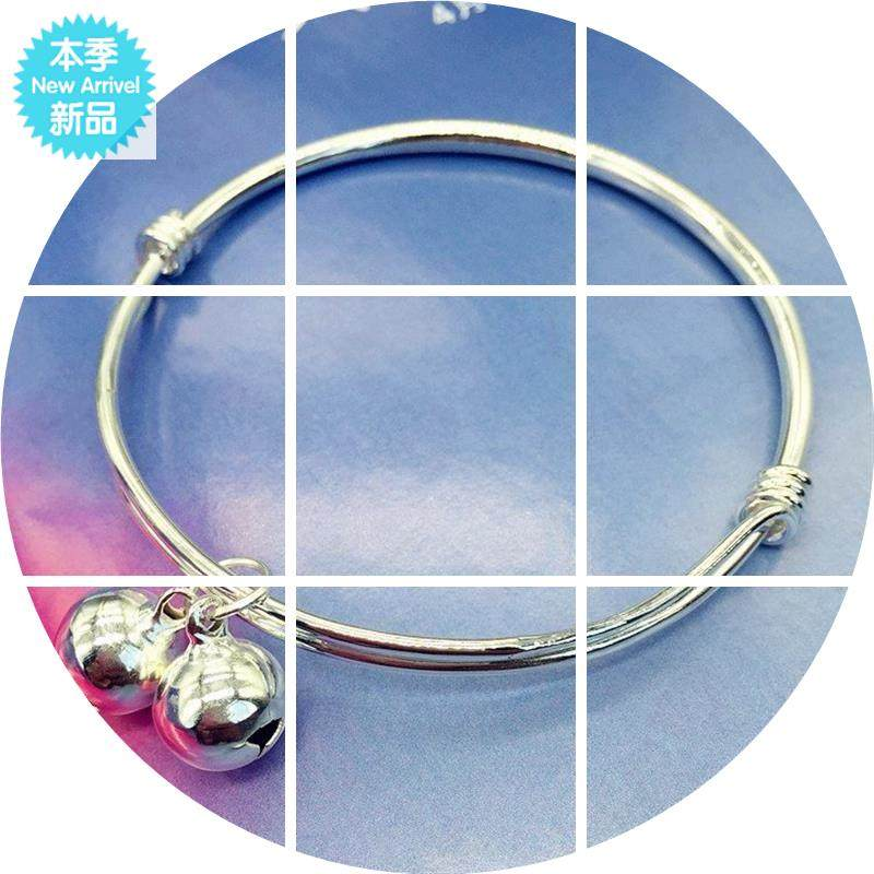 New Korean version small fresh bell anklet silver fashion Anklet girl smooth simple versatile temperament Anklet
