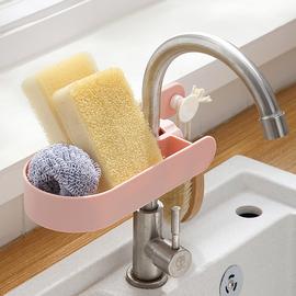 厨房水龙头置物架塑料可旋转多功能上面的架子单层收纳架沥水神器图片