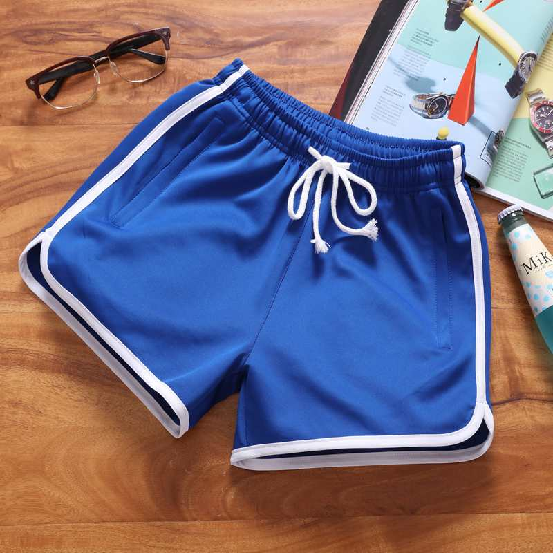 Mens shorts summer loose beach pants trendy casual pants three part pants sports plus plus size overweight pants