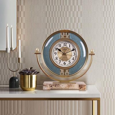 座钟客厅老式摆件北欧创意时尚家用台式钟表卧室静音简约个性台钟