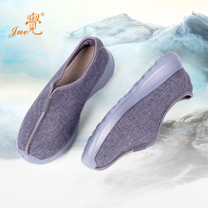Monk shoes spring and autumn shoes single shoes summer cloth shoes monks breathable soft soled monks cotton hemp men and women Buddhism