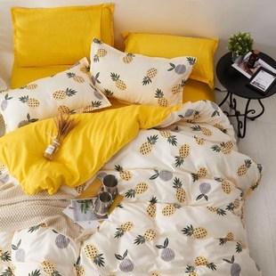 中国上用品ins网红亲肤被床单学生宿舍4三件套热恋家纺四件套床