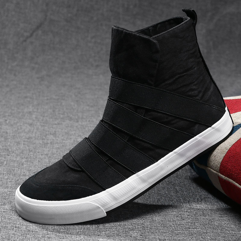 Spring mens shoes high top canvas shoes breathable casual shoes Korean versatile flat soled shoes