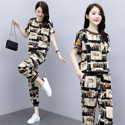 运动服套装女款夏季2021新品时尚装