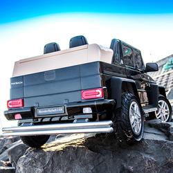 充气轮奔驰大g儿童电动车四轮遥控4驱男女小孩宝宝玩具汽车可坐人