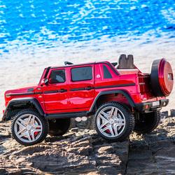 奔驰大g儿童电动车四轮遥控汽车4驱网红车子小孩宝宝玩具车可坐人