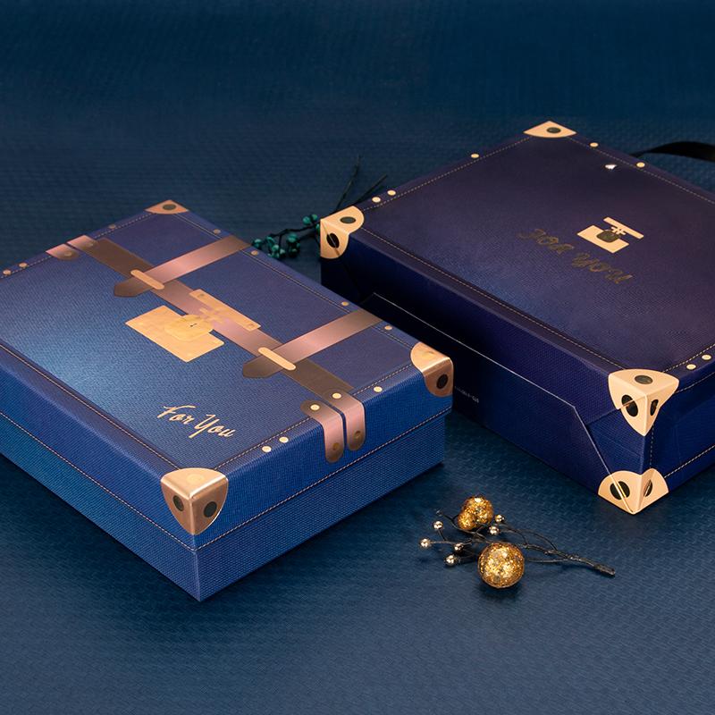 天时吉伽 520复古礼品盒生日包装盒礼盒创意回礼伴手礼空盒子