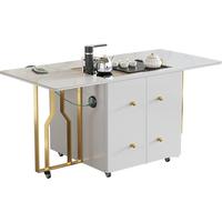 轻奢岩板茶台家用可移动升降变餐桌好不好