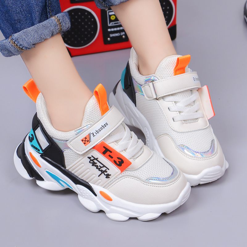 男童运动鞋2019新款春秋季儿童鞋子中大童学生网面女童透气休闲鞋