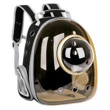 Space Pet Cabin Transparent Cat Backpack Out Cat Portable Bookbag Summer Cat and Dog Chest Shoulder Pack