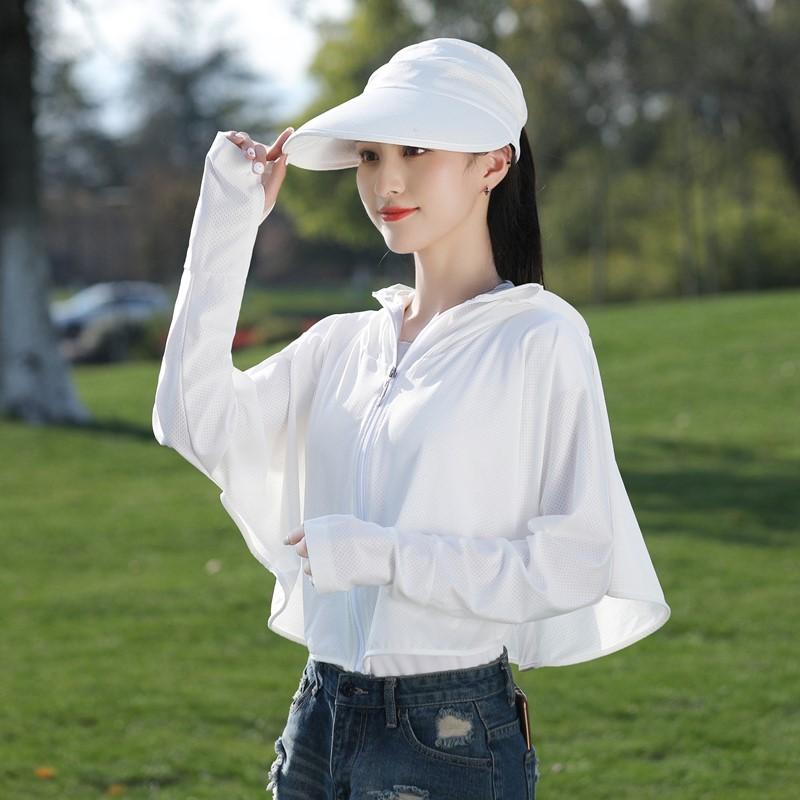 防晒衣女2020新款夏骑行防紫外线短款薄款开车遮阳披肩防晒服外套