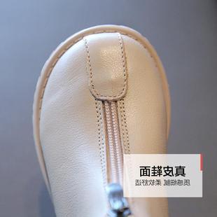 迪卡農潮牌女童馬丁靴迪卡龍新款春秋單靴兒童英倫風靴子中大童秋