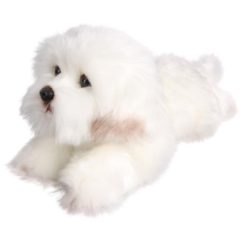 毛绒玩具狗狗可爱仿真斯犬萌宠睡觉抱枕公仔娃娃玩偶狗大号马尔济