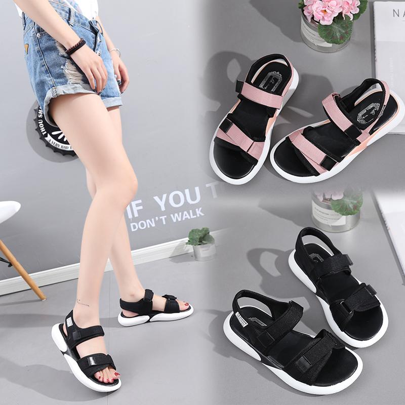 2019夏季<font color='red'><b>凉鞋</b></font>女时尚平底沙滩鞋【原价189元】