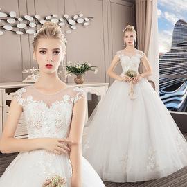 礼服新款蓬蓬裙婚纱梦幻齐地欧美结婚2021气质孕妇显瘦公主新娘