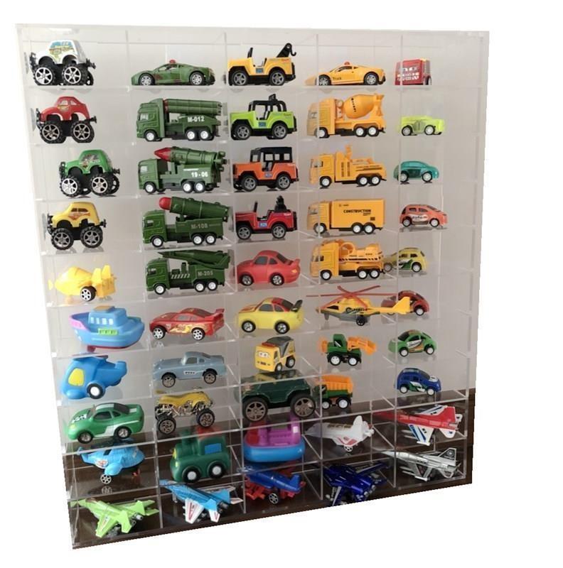 小模型玩具摆放展示架家用展示柜车模收藏品汽车模型收纳盒格子柜