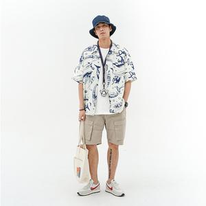 714street夏装男士动物印花夏威夷